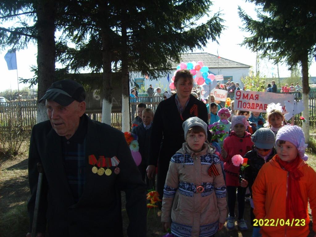 ветеран ВОВ Гвоздев Михаил Антонович на митинге 2015год
