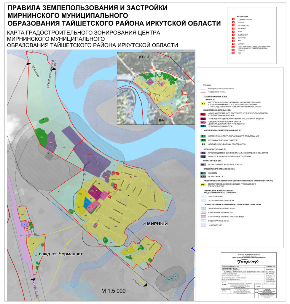 Правила землепользования и застройки Мирнинского муниципального образования